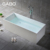 Man-made stone one person hot tub