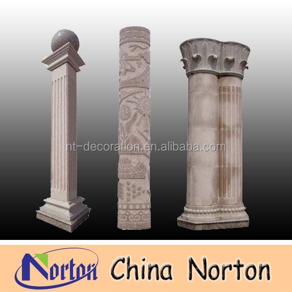 High quality indoor decorative marble onyx pedestal column NTMF-C118A