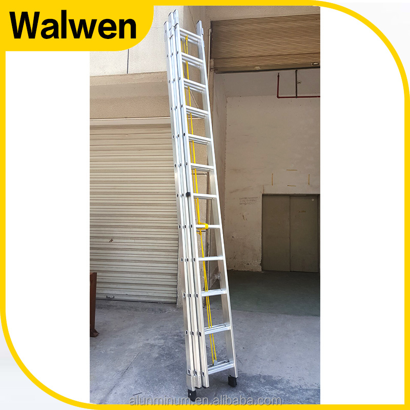 Combination folding three section extension fire escape rope ladders sale