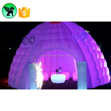 Hot Selling Event Igloo Dome Tent Inflatable With LED Light For Wedding A1148