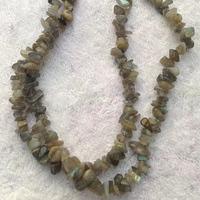 Wholesale semi precious stone chips necklace,Labradorite necklace