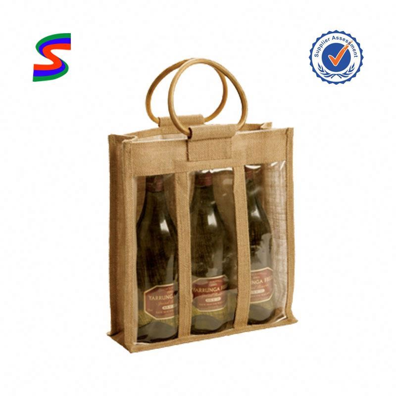 Bamboo Handle Jute Bag Jute School Bag