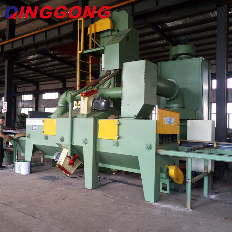 steel plate and section roller conveyor shot blasting machine