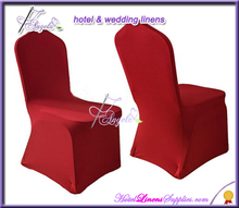 dark red lycra banquet chair covers for sale with flat front, cheap wedding chair covers
