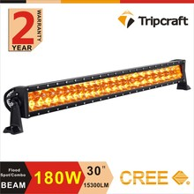Factory Direct Outdoor Auto Car 30''led light 180W Offroad Amber Led Spot Light Bar