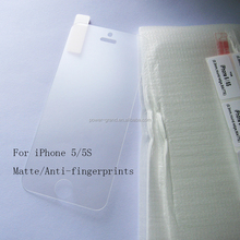 Premium 9H 2.5D Anti-fingerprint Matte Tempered Glass screen protector for Apple iPhone 5/5S