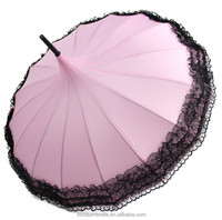 "23""*16k flower pagoda shaped umbrella for lady"
