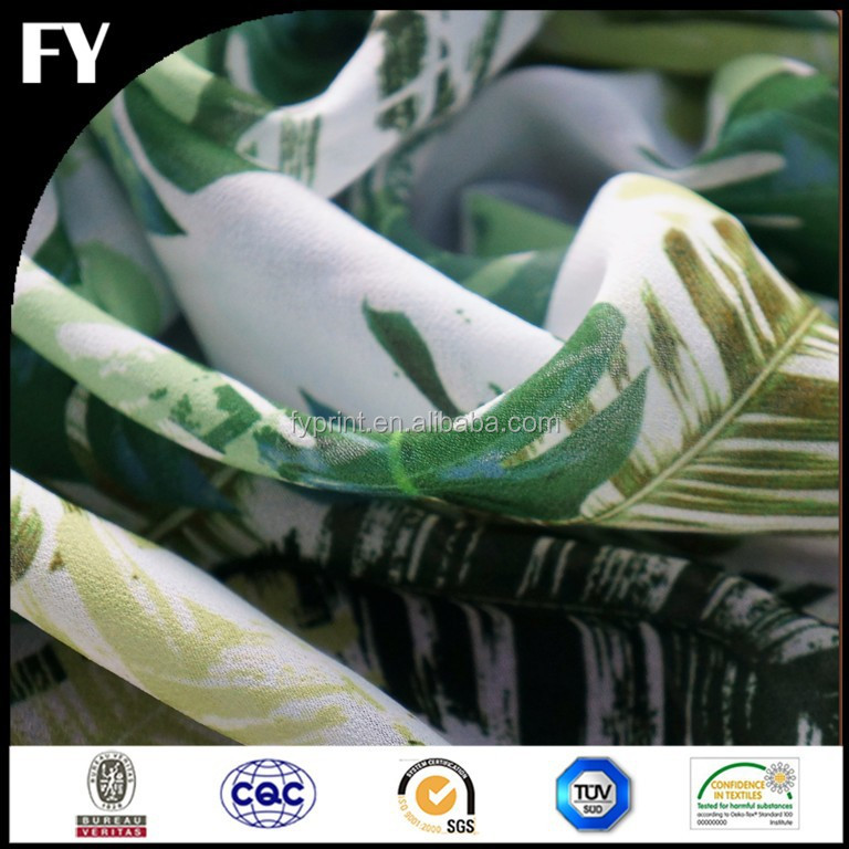 Factory high quality weed printed fabric