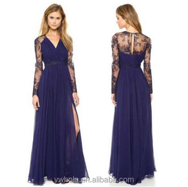 2016 Sexy Lace Free Prom Chiffon Evening Cocktail Women Long <strong>Dress</strong>