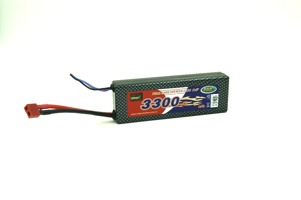 Enrichpower Lipo Battery Pack 3300mAh 3.7V 50C 1S Hard Case with Deans T Plug For RC Car Boat Drone Truck Roar Approved