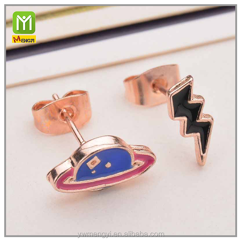 factory china Lovely Creative women jewelry thunder shape Earring