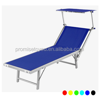 fabric cheap folding beach lounge chair portable beach bed with canopy