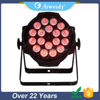 Reasonable price 18W x18 rgbawv 6-in-1 rgb stage lighting par light