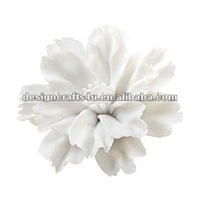 mini ceramic white flower wall plague