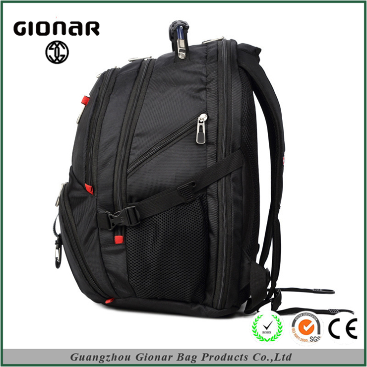 Low Price High End Hot Sale Citi Trends 1680D Nylon Black Computer Laptop Backpack With Many Pockets