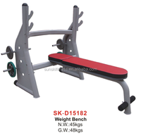 Comercial /Home Weight lifting bench with dumbbells for body workout , Home exercise, for club used.