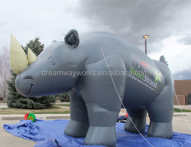 Mowhawk inflatable rhino for advertising