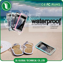 Outdoor diving 6M waterproof case ultra thin TPU+PC water shell for samsung galaxy note 7