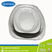 Food Grade Disposable Oval Household Aluminium Foil Roaster Pan Tray