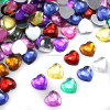 wholesale flatback sew on heart acrylic jewels crystal gemstone