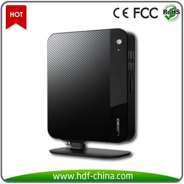 Hot selling Intel Celeron dual core 1.86 GHz processor small form pc, cheap desktop computers, remote desktop mini pc