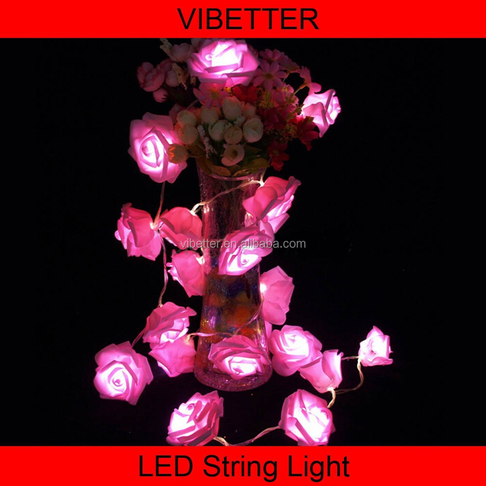 3V Battery operated hano fairy light garland rose clips colourful wire led string light