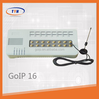 New model GSM VoIP gateway GOIP-16 ,fixed cellular terminal gsm gateway, support SIP&H.323 protocal voip phone adpater