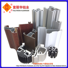 Mill Finished or Color Anodized Aluminum Extrusions 6063 6061 T5 T6 with Customized Specification