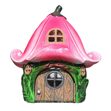 Resin Natural Flower Design Fairy Garden House