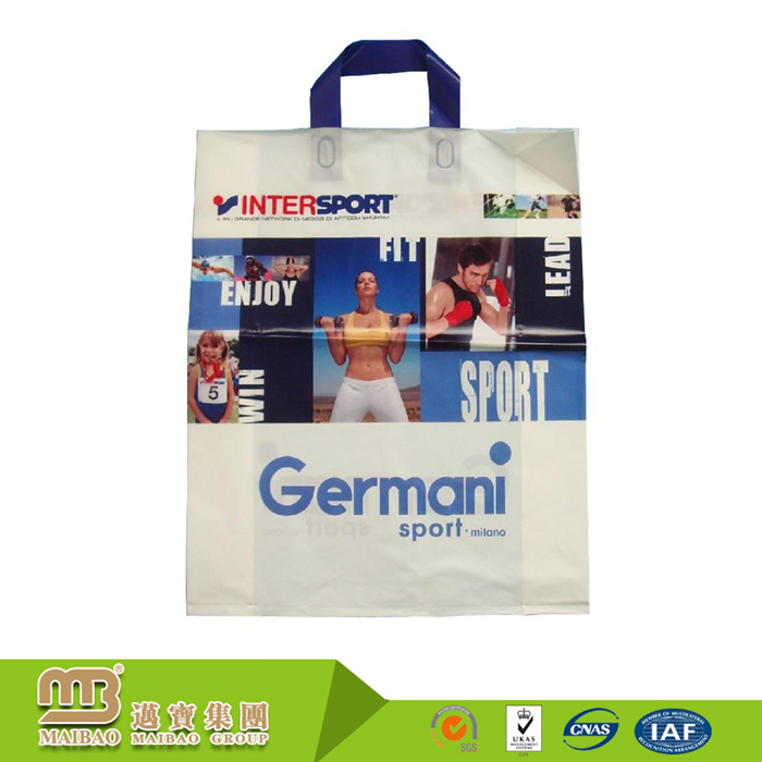 China Suppliers Wholesale Custom Logo Printing Handlebag Heavy Weight Jerseys Plastic Bags