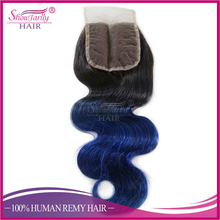 Wholesale100% human ombre hair braiding hair,Brazilian Colored Two Tone color Hair Bundles With Closure