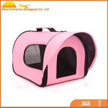 luxury waterproof side open oxford dog pet carrier bag