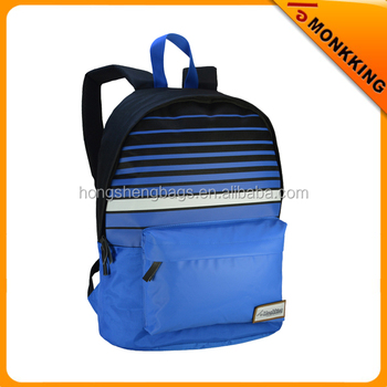 Fashion New style school Blue cheap waterproof backpack 2017