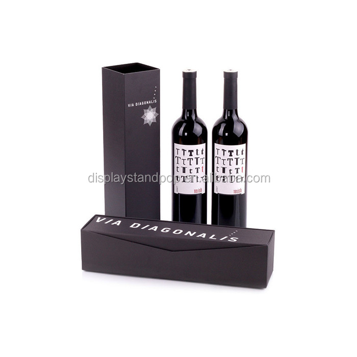 Elegant Cardboard/ Paper Wine Gift Box For Single Bottle