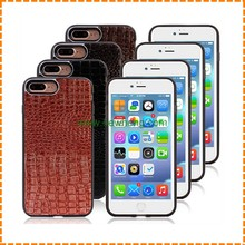 New crocodile skin leather case cover with magnetic for iPhone 7 7 plus