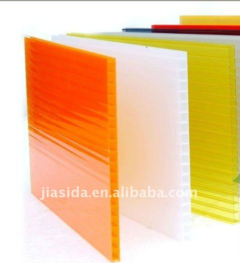 colored Hollow polycarbonate sheet