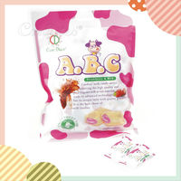 ABC milk candy with sweet strawberry center, sweet ,milk candy