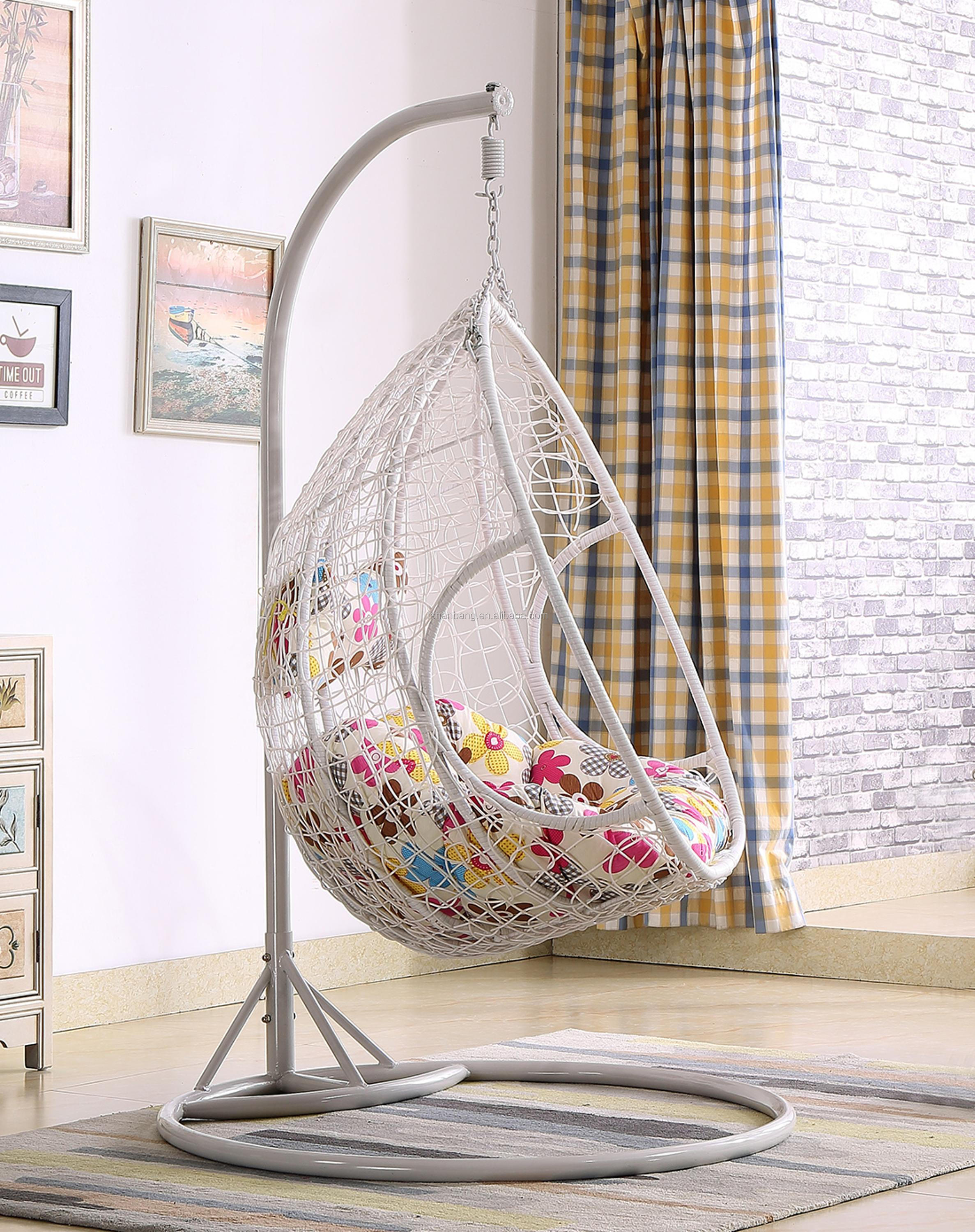 White Outdoor Patio Garden Double Hanging Swing Chair