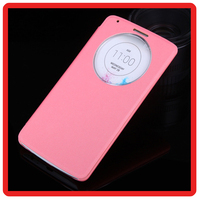 Hot selling luxury Circular View Window Intelligent Case Cover Flip Folio PU Leather Cover for LG G3 G4 G5 Case