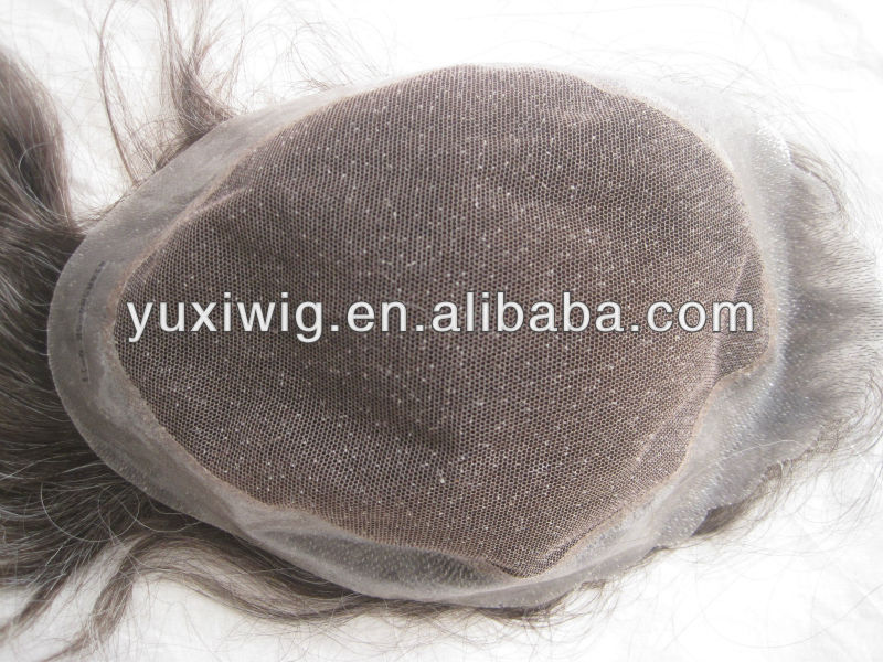 Super thin skin toupee Best natural looking invisible thin skin men's toupee
