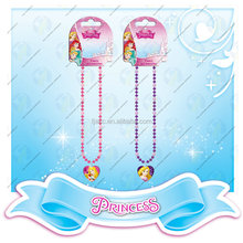 Promotional kids plastic bead necklace princess jewelry