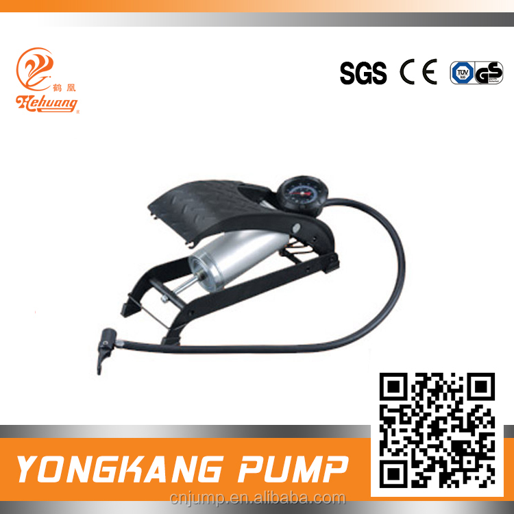 steel single cylinder foot air pump for bicycle or car tire