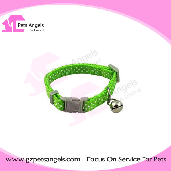 Ribbon pet collar Wholesale Adjustable Safety Breakaway release buckle Cats Collar with Bells