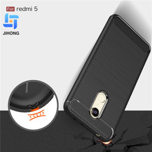 Shockproof fashion brushed carbon fiber texture protective soft tpu case for Xiaomi Redmi 5 cover