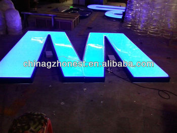 Acrylic vacuum forming letter billboard