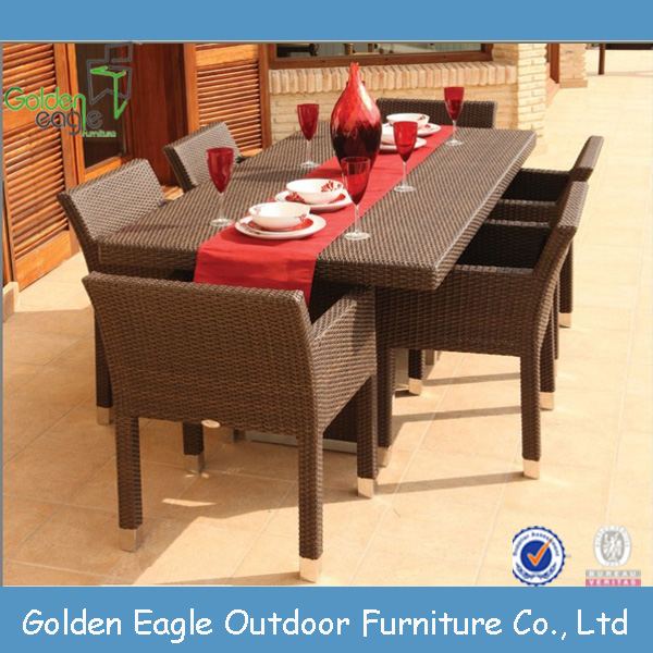 New Arrival Outdoor Poly Rattan Furniture Dining Cube Table Set Malaysia
