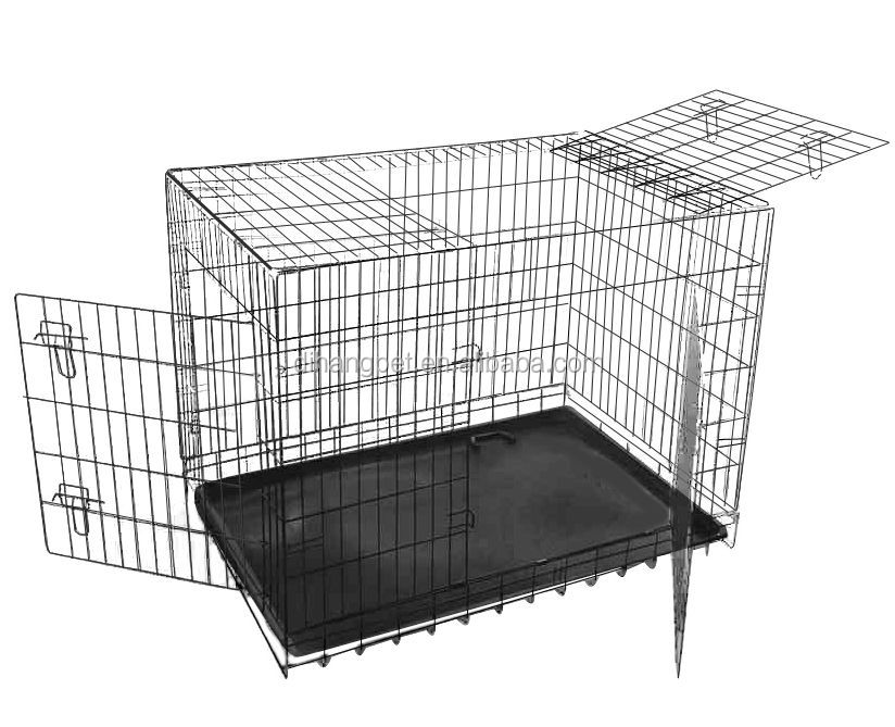 High quality three doors wire metal dog crate/dog cage/pet cage