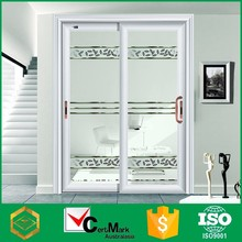 Contemporary aluminum frame unbreakable tall stable lattice door sale