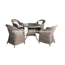 Outdoor rattan garden <strong>furniture</strong> 5-piece dining table and chairs Set