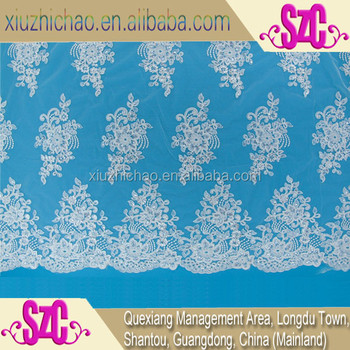 Szc0148 Sequins Embroidery Border Designs Silver Lace Mother Of The